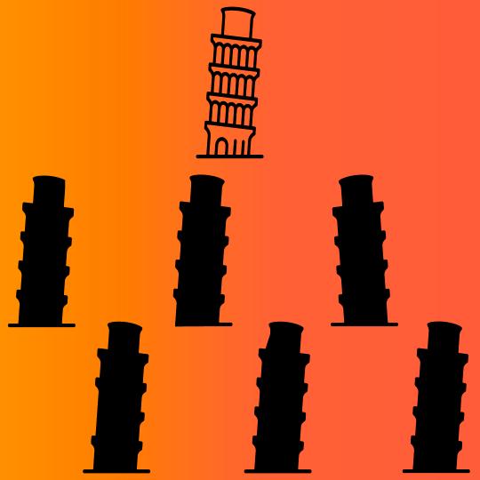 Juego mental con respuesta torre de pisa