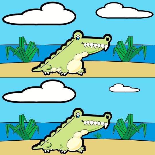 Encuentra las diferencias juego cocodrilo