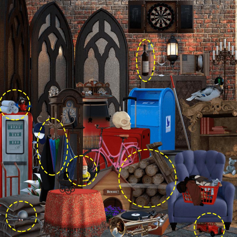 juego de buscar objetos ocultos