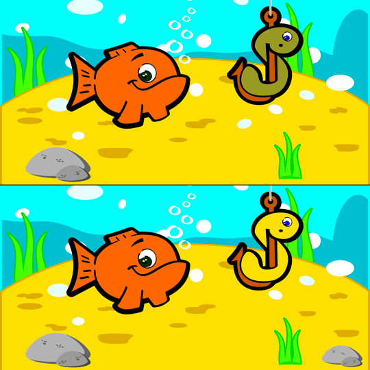 Spot the difference Fish