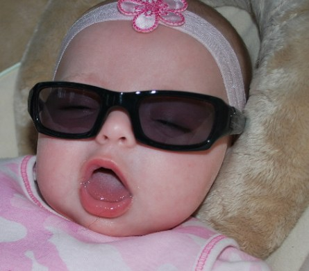 Me being really silly with the glasses daddy bought me ...