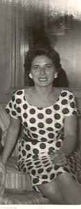 We both have polka dots...  my great grandma and I!