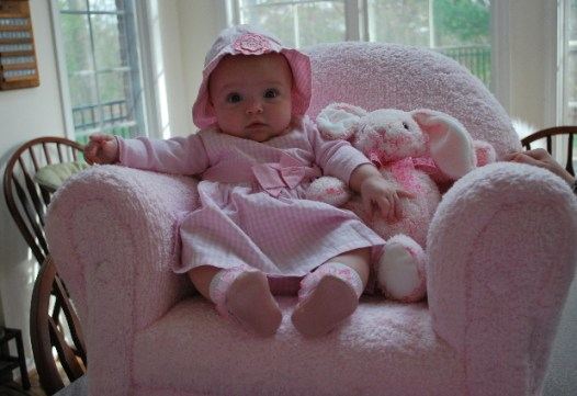 Me and my Gugu Bunny sitting in the chair!