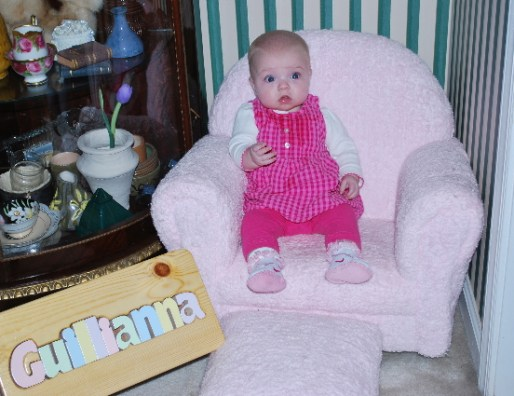 Me and my Princess Chair, thank you Mike and Robyn for the stool.
