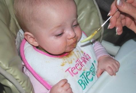 "Gappy feeding me the ""CINABUN FOR BABIES FOOD"" YUMMO!"