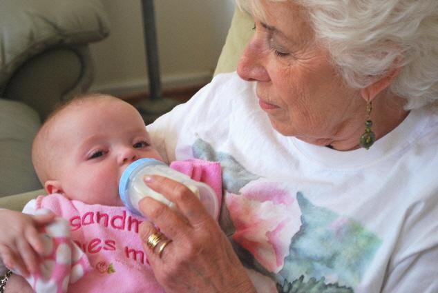 Great Grandma and I.... having a Bob!