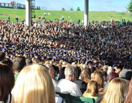 The crowd at graduation...