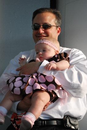Poppy and I at the graduation.