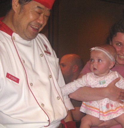 Me tickling the chef!