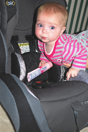 Kisses to you for such a great surprise... I hate my old car seat it is getting to small and uncomfortable for me!