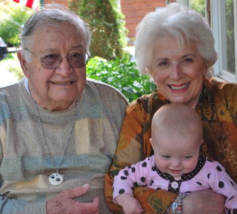 Great Grumpy, and Great Grandma Sally with everyones fav... ME!