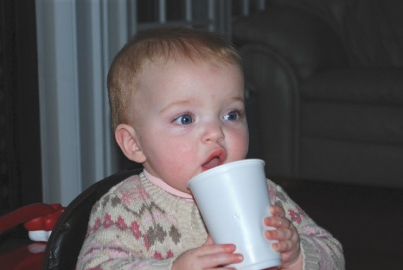 Look at me, I love big girl cups!
