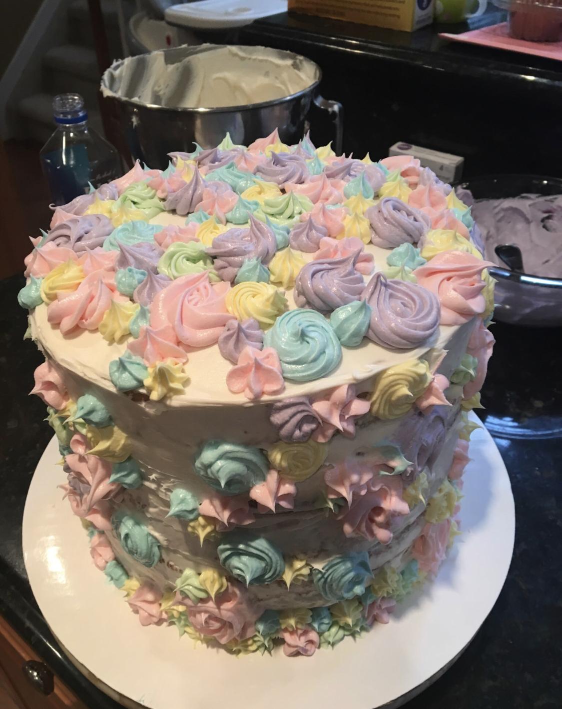 Baking a cake ….