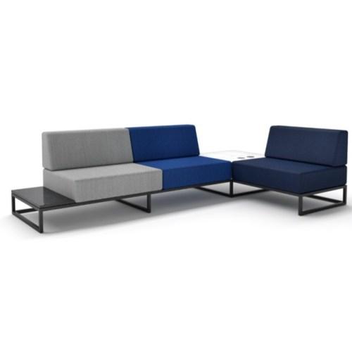 sofá modulado corporativo