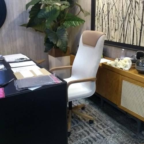 escritório com cadeira Boss