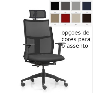 cadeira Time base nylon autoajustavel cores