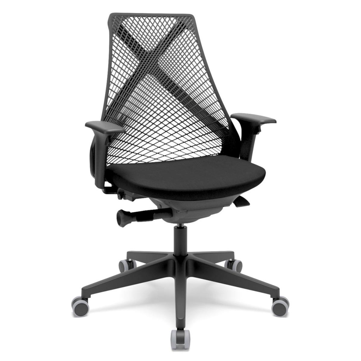 cadeira de escritório BIX com encosto preto