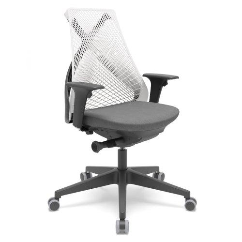 cadeira de escritório BIX encosto branco