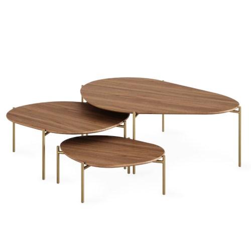 Conjunto de mesas de centro Stone