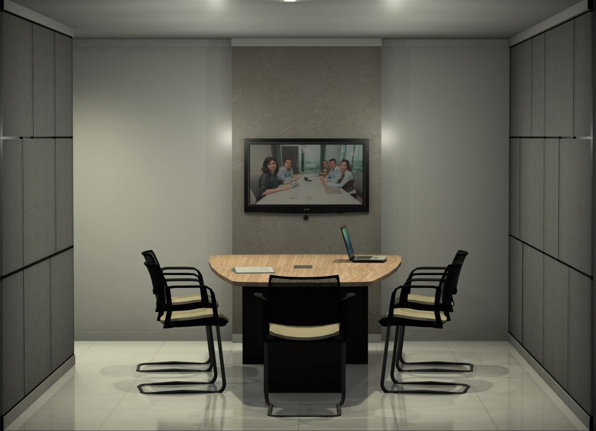 sala de reunião para vídeo conferências