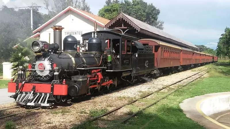 Trem turístico em Tiradentes