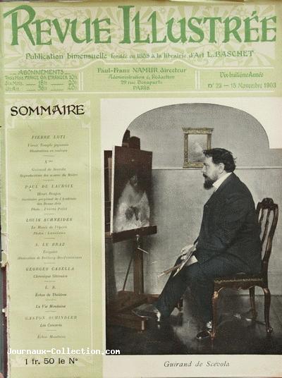 I. Couverture de la Revue Illustrée, 15 novembre 1903