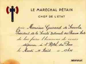 Invitation Pétain