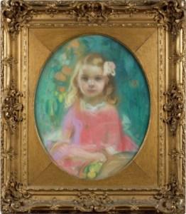 La petite fille en rose par Guirand de Scévola