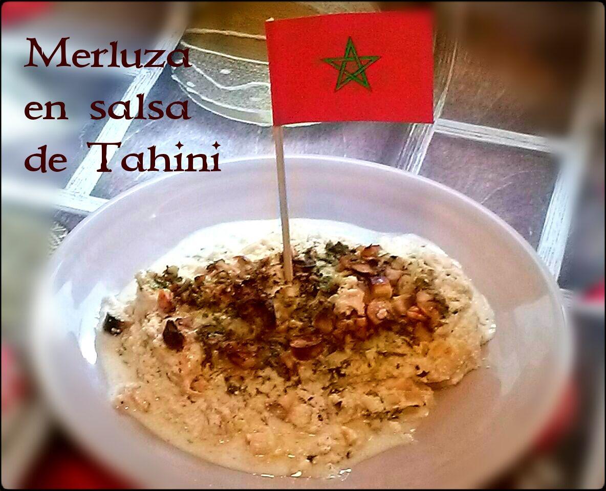 Merluza en salsa de Tahini, Marruecos. (Cena de Navidad Worldwide)