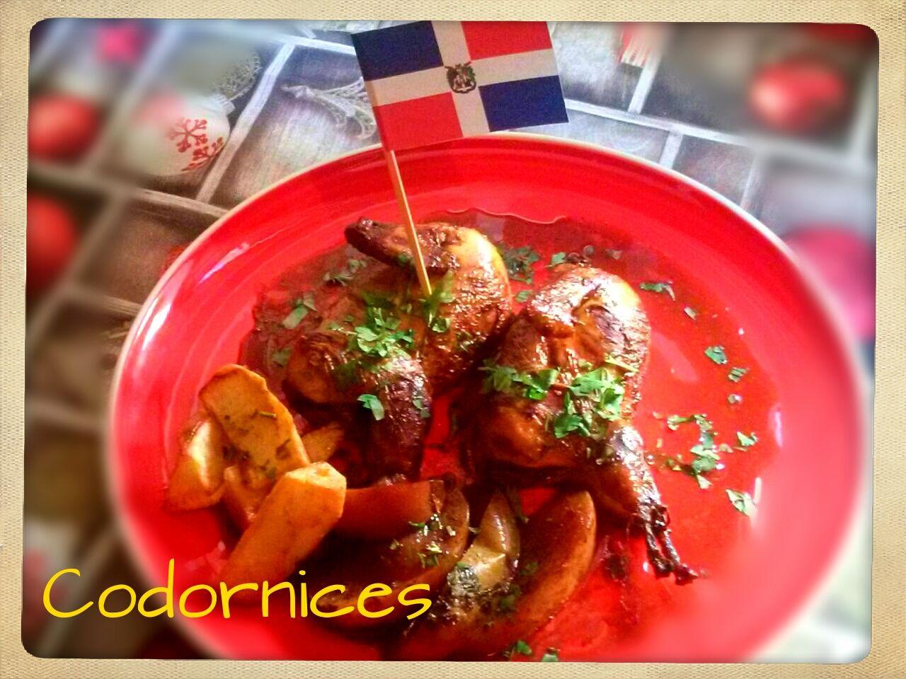 Codornices con Ron y Manzana, República Dominicana. (Cena de Navidad Worldwide)