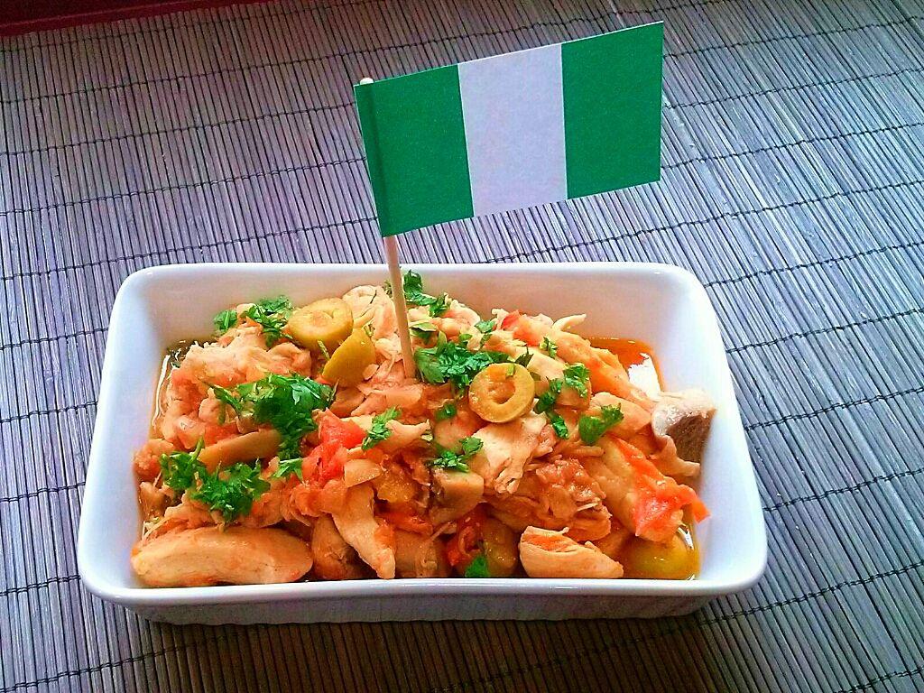 Kentumere (pollo guisado), Nigeria. [Cena de Navidad Worldwide]