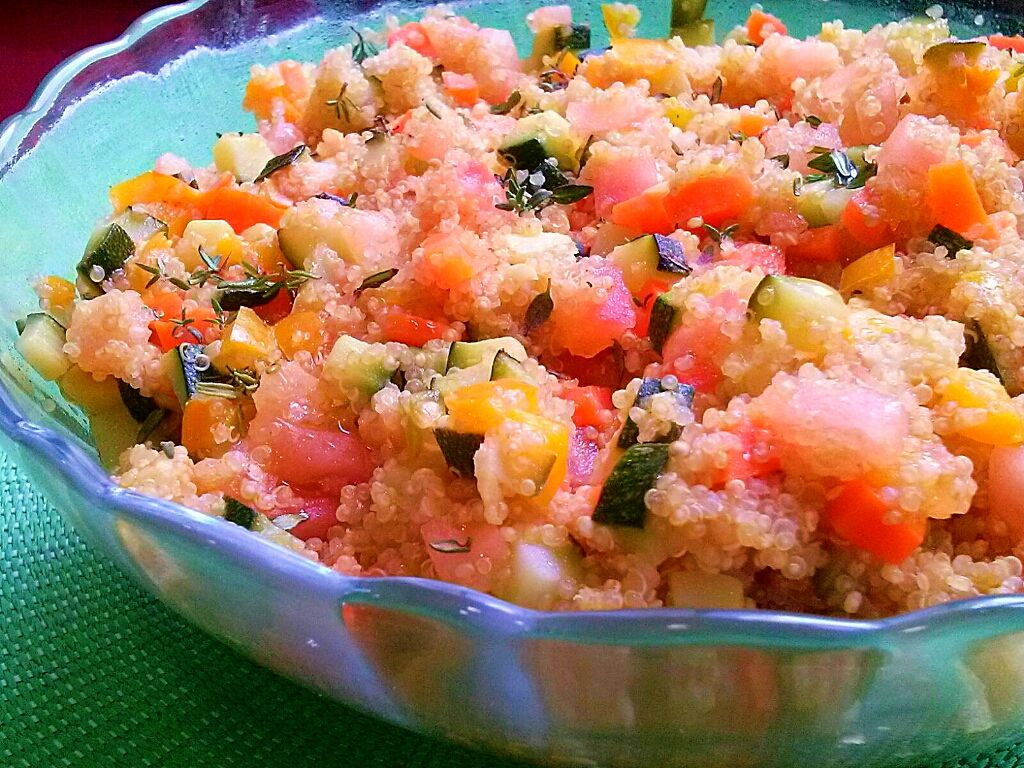 Ensalada de quinoa con verduras