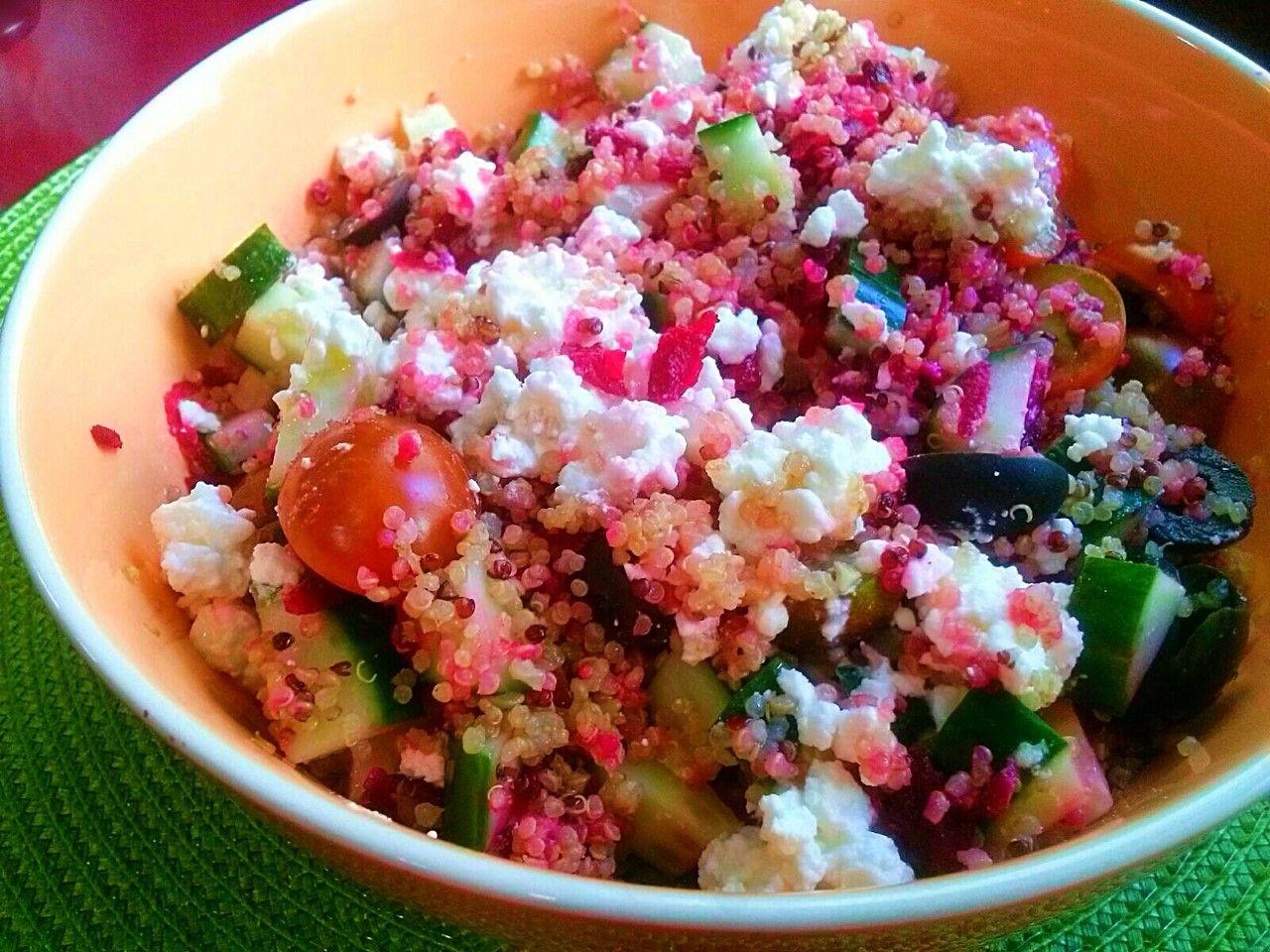 Ensalada de remolacha con quinoa