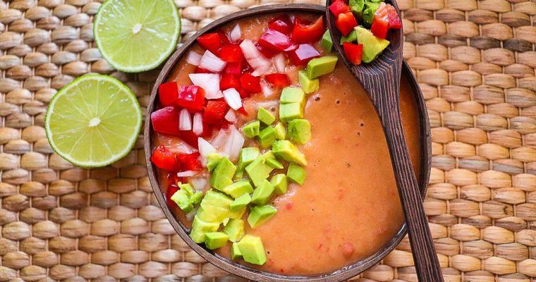 Gazpacho de aguacate. Antioxidantes y grasas buenas