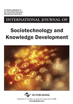 A photo of the cover of the International Journal of Sociotechnology and Knowledge Development; Published as part of my announcement of my special issue of the journal on UX and Project Management