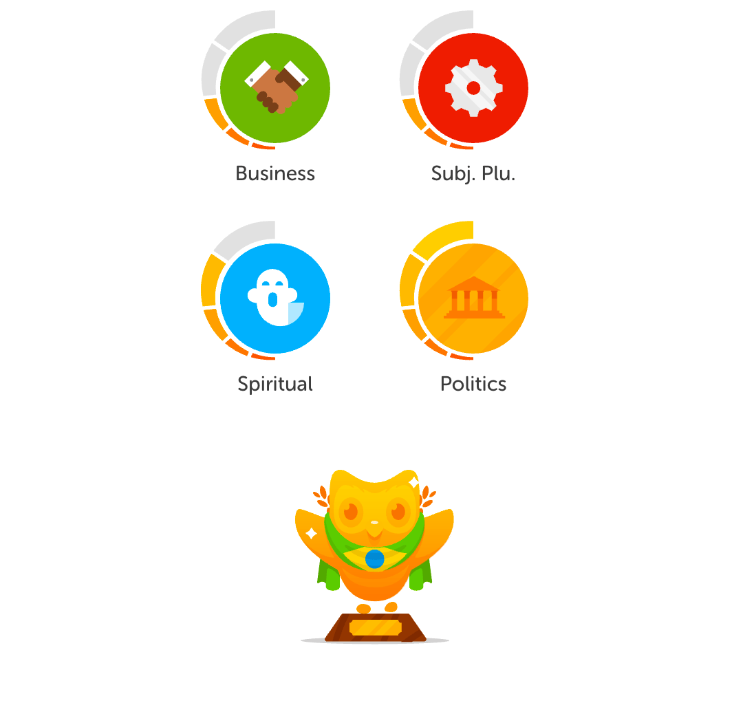 Today I finalized my Duolingo's Portuguese Tree!!