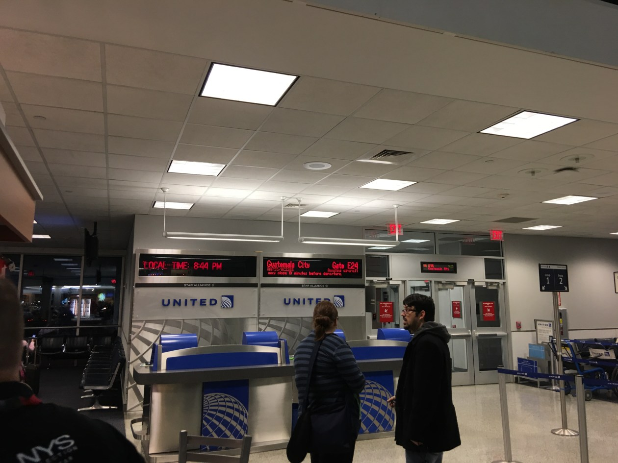 IAH….crazy rain, want to go back to GUA