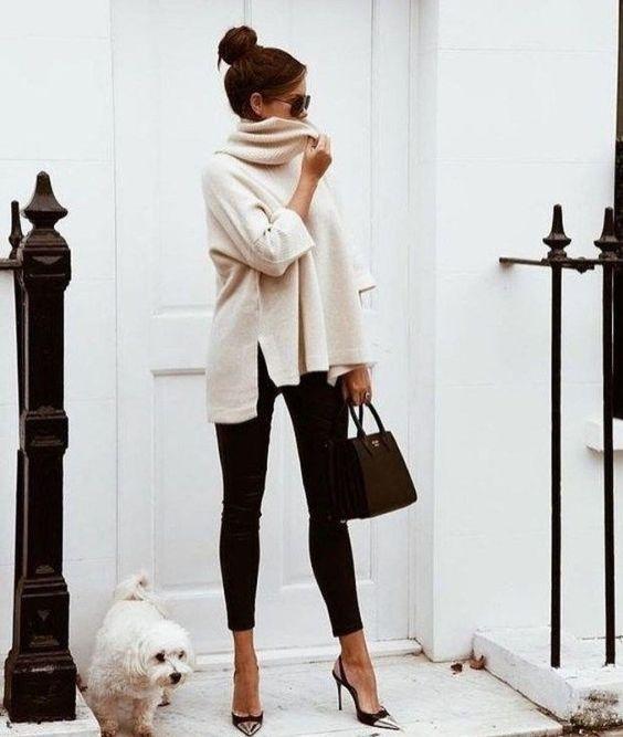 legging e suéter