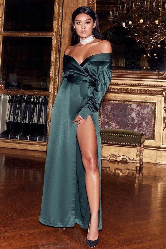 vestido de festa envelope