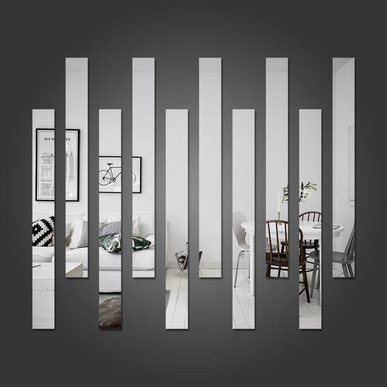 composição com espelhos