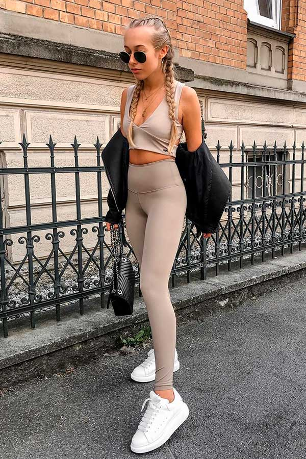 cropped e calça legging