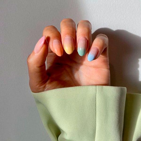 nail art, unhas multicoloridas
