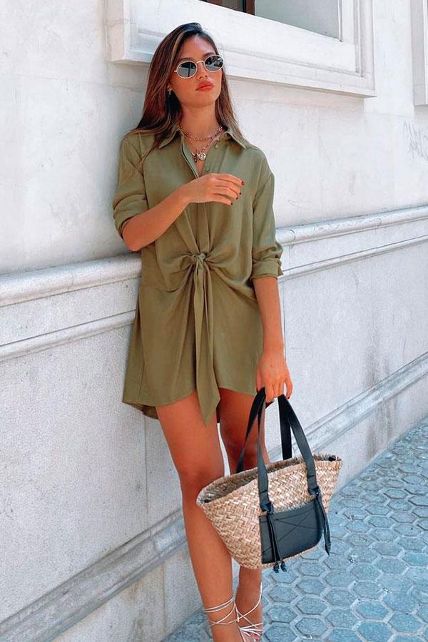María Segarra, chemise verde militar