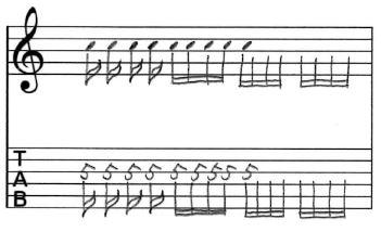 16分音符