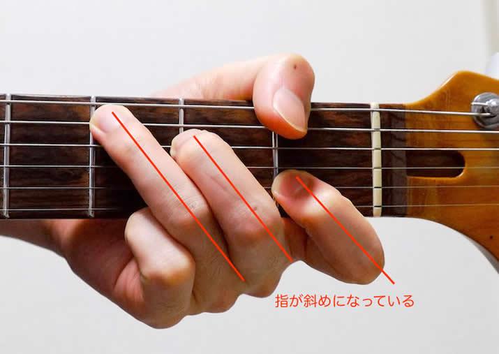 指の広げ方:C