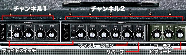 Roland JC-120 のコントロール
