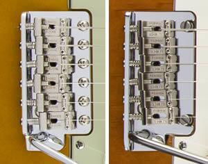 Vintage'59、Standardのブリッジ比較