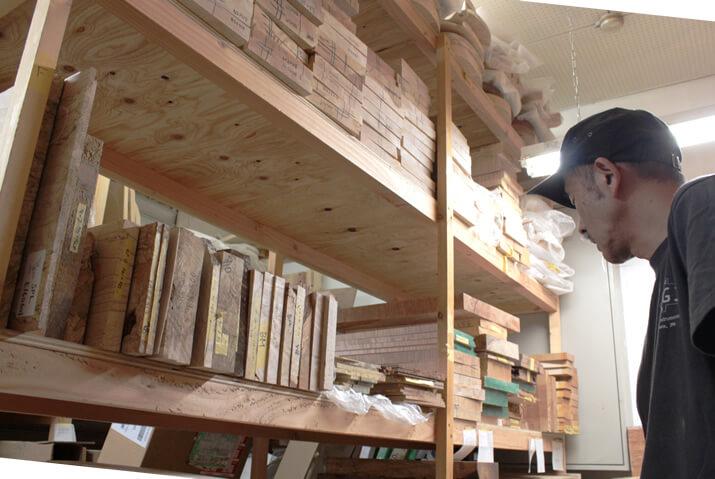 Sugi Guitars:木材保管庫