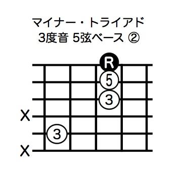 マイナー・トライアド3度音5弦ベース-2