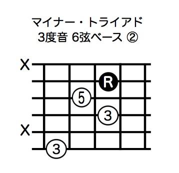 マイナー・トライアド3度音6弦ベース-2